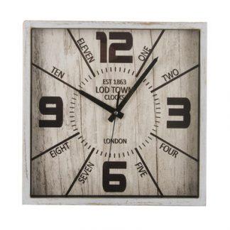 190-98732 zidni sat četvrtasti 30x30cm